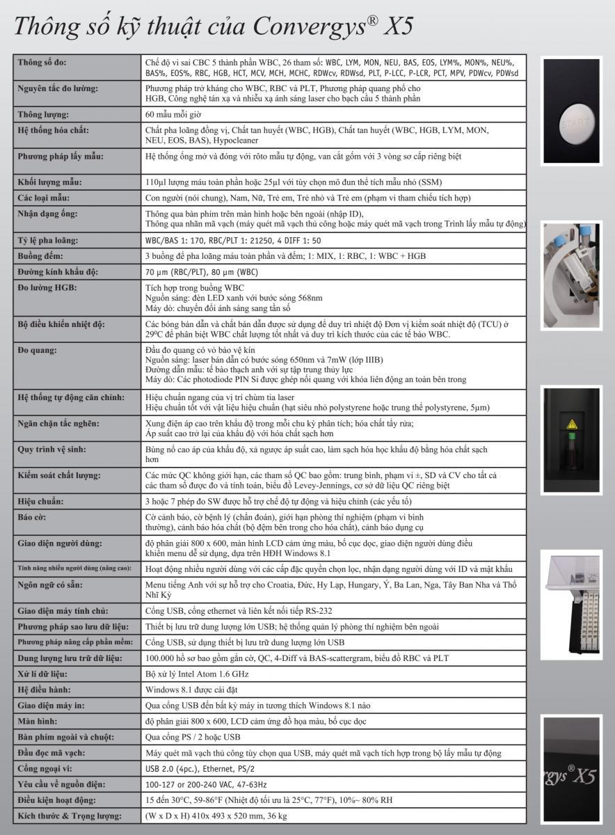 Máy huyết học Convergys® X5